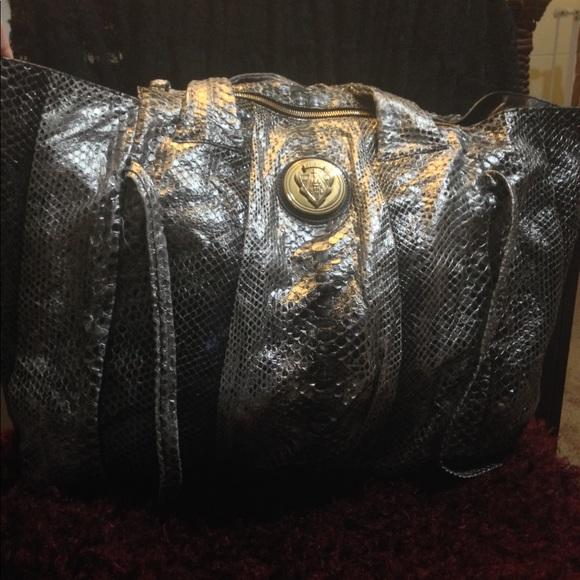 fb7a0fa95333 Gucci Bags | Hysteria Xl Python Tote | Poshmark